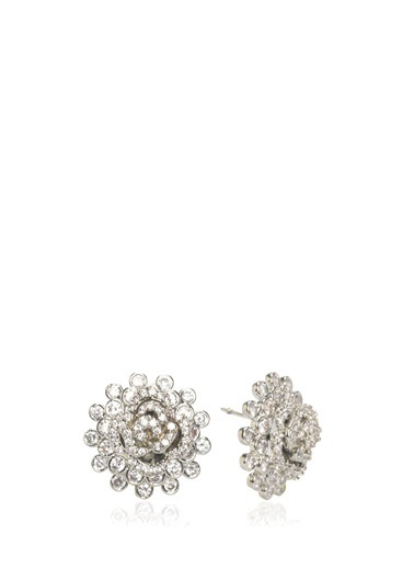 Beymen Collection Beymen Collection  Taşlı Çiçek Formlu Kadın Küpe 101463952 Gümüş